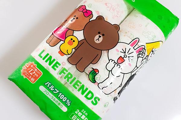 LINEフレンズのトイレットペーパーが可愛すぎる!